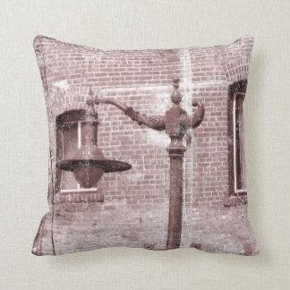 Vintage Street Lamp Throw Pillow
