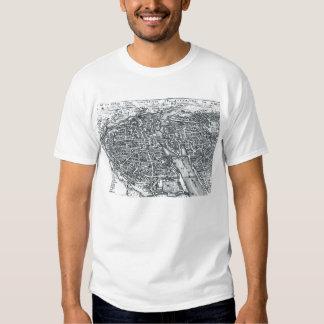 Vintage Street Map of Paris France Tshirts