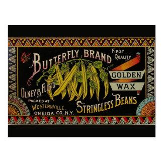 Vintage String Beans Label Postcard