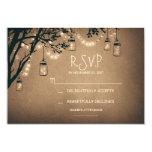 vintage string lights and mason jars RSVP 9 Cm X 13 Cm Invitation Card