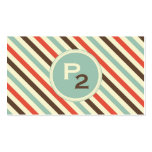 Vintage Stripe Pattern Professional Business Card