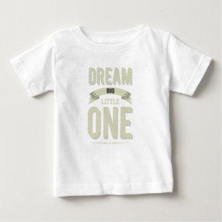 Vintage striped Cornsilk Dream Big Little one Baby T-Shirt