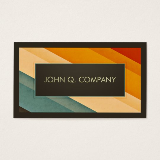 Vintage Stripes Business Card
