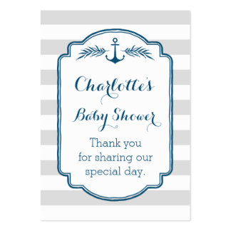 Vintage Stripes Nautical Baby Shower Favour Tags Pack Of Chubby Business Cards