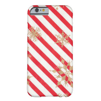 Vintage Stripes & Snowflakes Barely There iPhone 6 Case