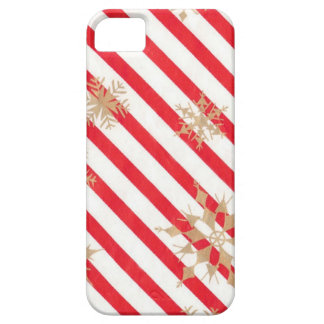 Vintage Stripes & Snowflakes iPhone 5 Case