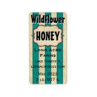 Vintage Stripes Wildflower Customised Honey Jar Label