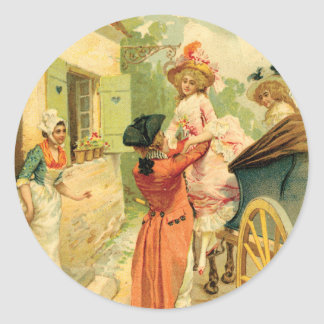Vintage Style 18th Century Carriage Sticker Tag