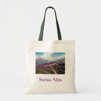 Vintage style Alpine View Tote Bag