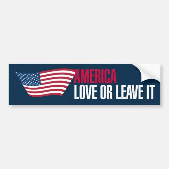 Vintage-Style America Love or Leave Bumper Sticker