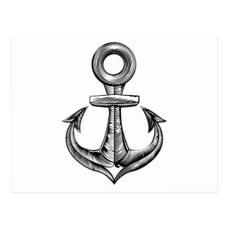 Vintage style anchor postcard