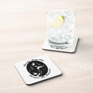 Vintage style Beauceron portrait Beverage Coasters