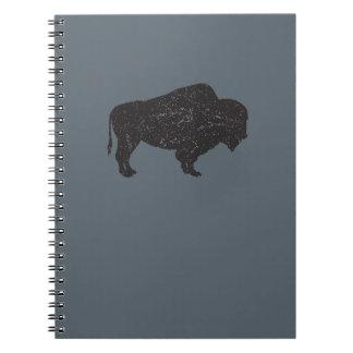 Vintage-style Bison Notebook
