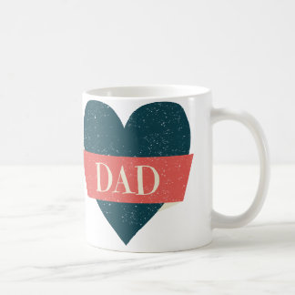 Vintage Style Blue Heart Dad Mug