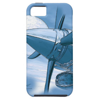 Vintage style Blue Turbo Aircraft I Phone 5 Case iPhone 5 Cover