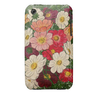 Vintage style Bright floral display iPhone 3 Cover