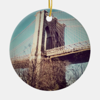 vintage style, Brooklyn Bridge Christmas Ornament