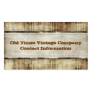 Vintage Style Business Cards