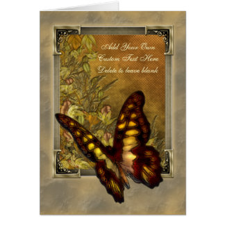 Vintage Style Butterfly Illustration Card
