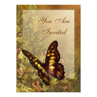 "Vintage Style Butterfly Illustration Invitations 5.5"" X 7.5"" Invitation Card"
