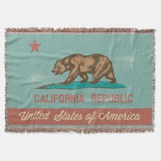 Vintage Style California Flag Throw Blanket