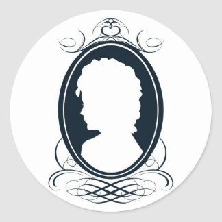 Vintage style cameo silhouette design stickers