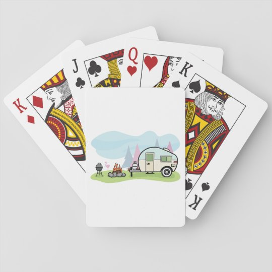 Vintage Style Camper Playing Cards