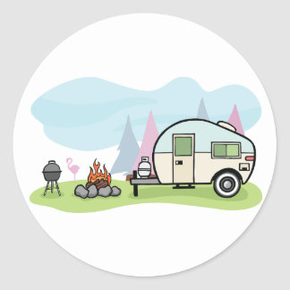 Vintage Style Camper Stickers