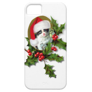 Vintage Style Christmas Kitten iPhone 5 Cover