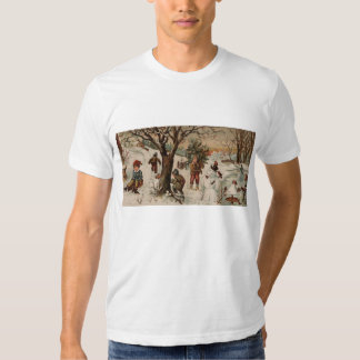Vintage style Christmas scene T-shirt