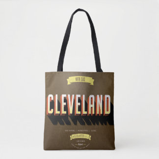 Vintage Style Cleveland, Ohio Tote Bag