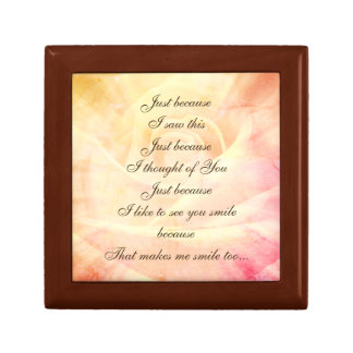 Vintage style Country Chic Poem design Gift Box