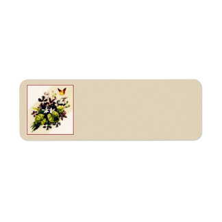 Vintage Style Country Floral Scene Address Labels