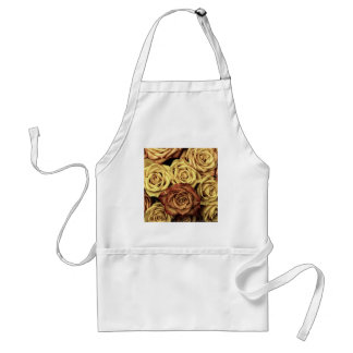 Vintage Style Cream and Red Roses Standard Apron