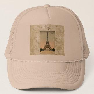 Vintage Style Eiffel Tower Art Trucker Hat