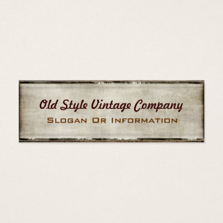 Vintage Style Fabric Look Business Cards