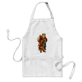Vintage Style Father Christmas Santa Claus Aprons