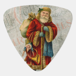 Vintage Style Father Christmas Santa Claus Guitar Pick