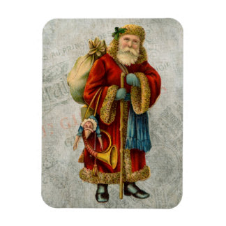 Vintage Style Father Christmas Santa Claus Rectangular Magnets