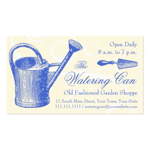 Vintage Style Florist or Garden Shop, Gardening Business Card Templates