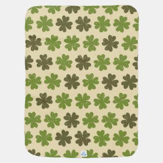 Vintage Style Four Leaf Clover Baby Blanket