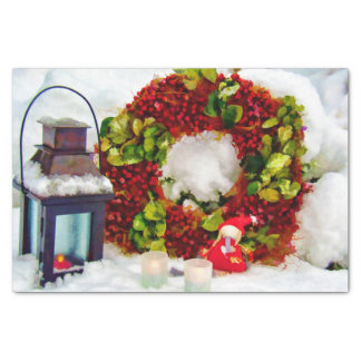 Vintage style garden Christmas decorations Tissue Paper