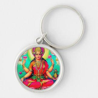 Vintage Style Goddess Lakshmi Pink Keychain