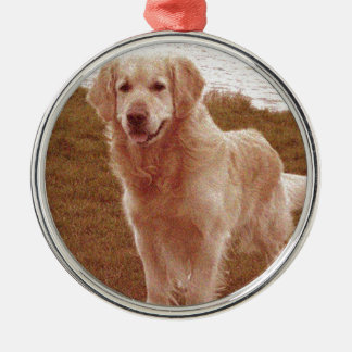 Vintage Style Golden Retriever Christmas Ornament