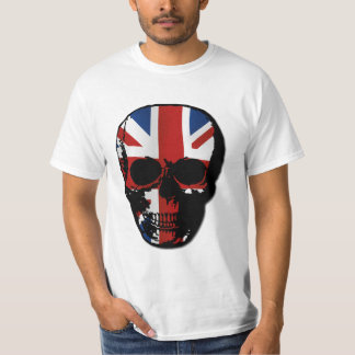 vintage style gothic skull with union jack T-Shirt