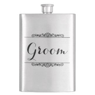 Vintage Style Groom Premium Flask