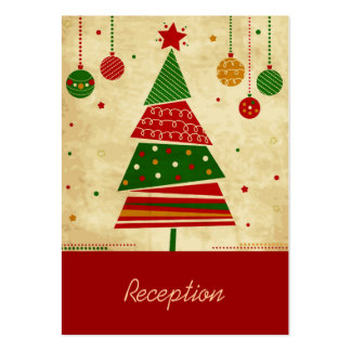 Vintage Style Holiday Reception Card Pack Of Chubby Business Cards