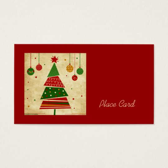 Vintage Style Holiday Wedding Place Cards