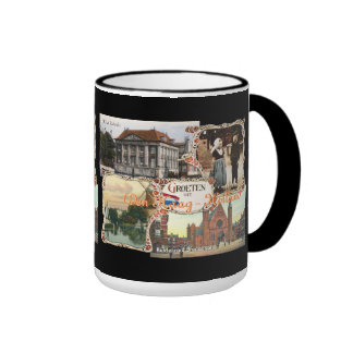 Vintage style Holland Old Den Haag Ringer Mug