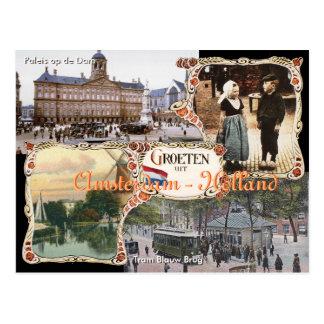 Vintage style Holland Postcard Amsterdam